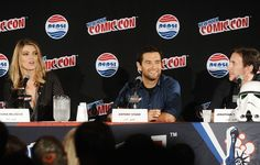Antony Starr Photos Photos - Ivana Milicevic, Antony Starr and Jonathan Tropper attend the Banshee panel at New York Comic-Con 2015 at The Jacob K. Javits Convention Center on October 8, 2015 in New York City. - New York Comic-Con 2015 - Day 1