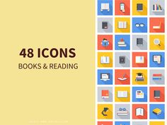 High Quality Premium Books & Reading Icons for Web & Mobile For Free Download: Freebies