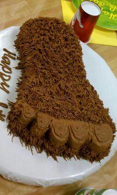 Big Foot theme cake