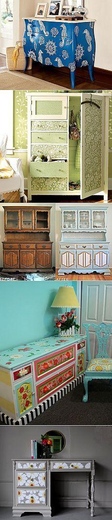 Идеи по переделке старой мебели - Наши дома