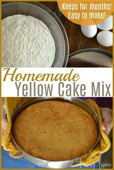 Making your own yellow cake mix is so easy with this recipe that can easily be stored for months and used with all of your favorite recipes! Large Family Meals, Big Meals, Best Dessert Recipes, Cake Recipes, Desserts, Reeses Cake, Easy Weekday Meals, Yellow Cake Mixes, Round Cakes
