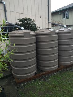 205 gallon RWH tanks