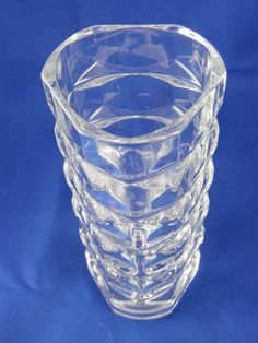 """Flower Vase Heavy 24% Lead Crystal J.G. Durand by TheMichiganAttic.  This heavy, crystal clear, J.G. Durand - France, 3 sided vase will not topple under the weight of a full bouquet of flowers. Standing 6 1/2"""" tall with a 3"""" diameter, the incised crystal design keeps this vase thick, sturdy and firm to the touch, while also providing the most elegant, understated backdrop for your flowers. It makes a thoughtful gift that you can refill as often as you like."""