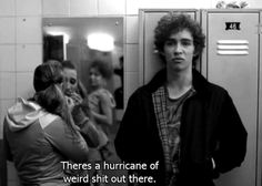 misfits, quote, and black and white image Nathan Misfits, Misfits Tv Show, Robert Sheehan, Series Movies, Tv Series, Misfits Quotes, Alien Aesthetic, Hollywood Scenes, Tv Show Quotes