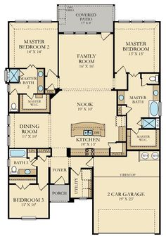 Instead of tire shop; make pantry bigger and have a big laundry room. One Level House Plans, New House Plans, Dream House Plans, Modern House Plans, Small House Plans, House Floor Plans, My Dream Home, Building Plans, Building A House