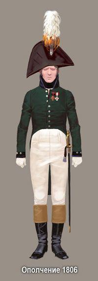 Ниже представлен возможный вариант экипировки князя Болконского на разных этапах службы.