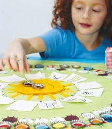 Jogo de tabuleiro simples, divertido e educacional para crianças. Monte o tabuleiro junto com seu filho e divirtam-se :) / Make a fun board game with your son :)