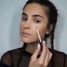 Makeup tips 😍 Contour Makeup, Kiss Makeup, Glam Makeup, Bridal Makeup, Makeup Tips, Face Makeup, Makeup Eye Looks, Beautiful Eye Makeup, Simple Eye Makeup