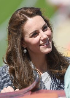 Catherine, Duchess Of Cambridge officially opens The Magic Garden.(Photo by Stuart C. Wilson/Getty Images)                                     via @AOL_Lifestyle Read more: http://www.aol.com/article/2016/05/05/kate-middleton-gets-new-younger-hairdo/21370928/?a_dgi=aolshare_pinterest#slide=3884477|fullscreen