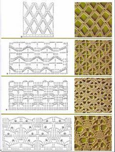 Crochet Stitch Swatch Diagrams