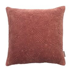 Ice Age Geometric Cushion, Rust Velvet - Barker & Stonehouse