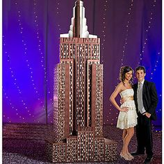 Our Empire State Building is a 3 dimensional standee with the look of a city skyscraper accented with lights.