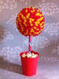 Red and Yellow Jelly Bean Sweet Tree £25