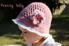 Free crochet pattern – Pretty Dolly baby girl hat   The Veggie Mama