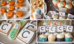 science birthday party with periodic elements and chemistry themed treats