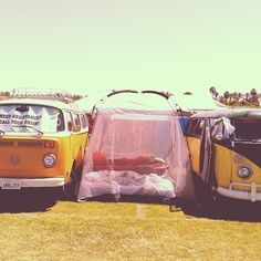 Camping in style.