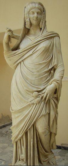 sculpture Julia Domna as goddess Ceres