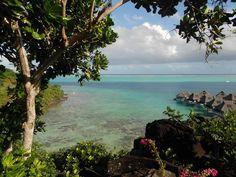 Beautiful Bora Bora from the top of the hill, Hilton Hotel