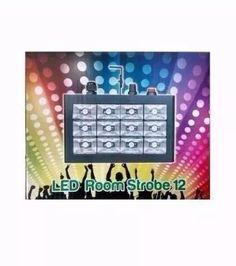 strobo 12 leds room- rgb 15w-ritmico- dj's-festas-iluminação