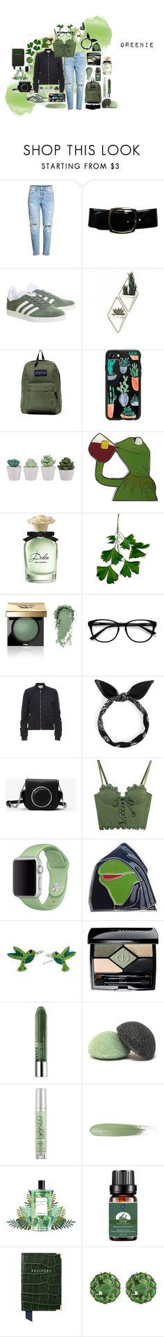 """greenie"" by shelbyyy-dx on Polyvore featuring H&M, Chanel, adidas, Umbra, JanSport, Casetify, Dolce&Gabbana, Bobbi Brown Cosmetics, EyeBuyDirect.com and BB Dakota"