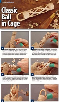 Carving Ball in Cage - Wood Carving Patterns and Techniques | WoodArchivist.com
