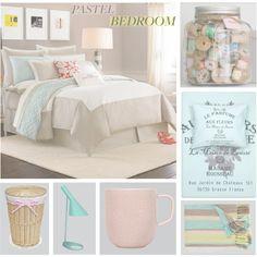 A Sweet Pastel Bedroom Grasse France, Pastel Bedroom, Dream Bedroom, Bedroom Decor, Bedroom Ideas, Girl Room, New Homes, House, Pastels