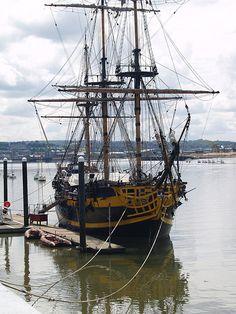The Turks Head sailing ship on the Medway at Chatham marina [shared]