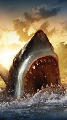 Diamond painting home decoration DIY diamond painting shark mouth embroidery stitch diamonds diamond Megalodon, Jersey Shore Shark Attack, Great White Shark Drawing, Hai Tattoo, Shark Painting, Mouth Painting, Photo Bretagne, Shark Pictures, Shark Pics