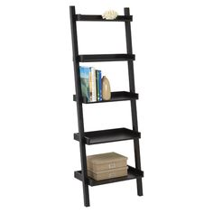 Java Linea Leaning Bookcase, the container store