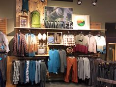 Women's Apparel - Honry Toad Wall Clothing Store Interior, Retail Store Design, Outdoor Apparel, Visual Merchandising, Clothes For Women, Womens Fashion, Sacramento, Inspiration, Shopping