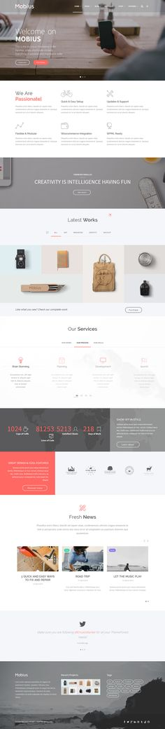 Mobius - Responsive Multi-Purpose WordPress Theme on Behance