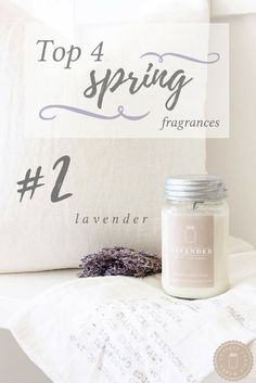 Vintage Farmhouse Home Decor - The best spring fragrances from Antique Candle Works!  Get inspired for spring decor! PC: Erica from Our Humble Nest