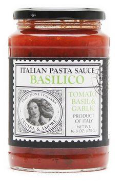 Cucina & Amore Basilico Tomato, Basil & Garlic Pasta Sauce 16.8 oz – BRIARWOOD