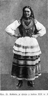FolkCostume&Embroidery: Krzczonow Costume Women's Chemises, Polish Folk Art, 18th Century Costume, Sailor Collar, Beautiful Costumes, Folk Costume, My Heritage, World Cultures, People Around The World
