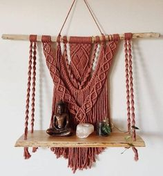 Top Tips and Tricks: Floating Shelves Laundry Ideas how to decorate floating shelves diy network.Floating Shelves Kitchen Pipe floating shelves diy how to make. Macrame Art, Macrame Projects, Macrame Knots, Macrame Patterns, Diy Storage, Bathroom Storage, Kitchen Storage, Storage Ideas, Kitchen Shelves