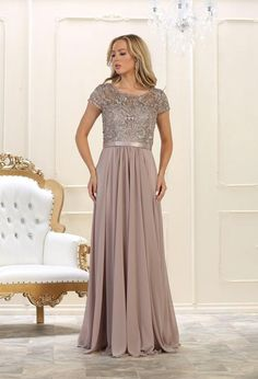 Mother of the Bride Long Dress Plus Size Formal Evening Gown - The Dress Outlet Mother Of The Bride Plus Size, Mother Of The Bride Dresses Long, Mothers Dresses, Plus Size Formal Dresses, Plus Size Gowns, Evening Gowns With Sleeves, Plus Size Evening Gown, Evening Dresses, Dresser
