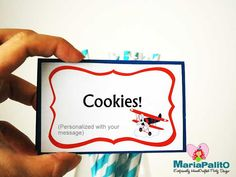 New to Mariapalito on Etsy: 8 Bi-plane Food Tented Labels Plane Personalized Buffet Tented Food Labels A975 (12.50 USD)
