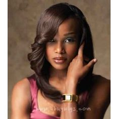 Custom 100% Real Human Hair Long Curly Sepia Lace Wigs for African American Women - US$199.00 http://www.shorthaircutsforblackwomen.com/kinky-hair-weave/