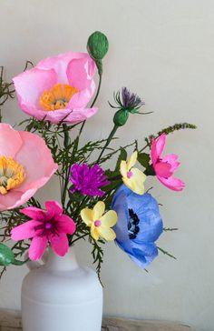 Appetite Paper: DIY - Paper Wildflower Arrangement!