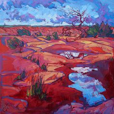 After the Rain Painting by Erin Hanson