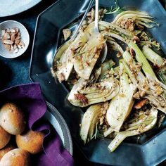 Vegetarian Holiday Recipes: Roasted Fennel with Rosemary Breadcrumbs | CookingLight.com