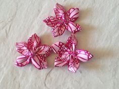 Hot Pink Satin Ribbon w/Light Pink Monarch by CraniumDecorAndMore, $1.75