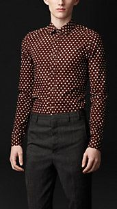 Classic Fit Polka Dot Poplin Shirt