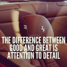 The difference between good &great