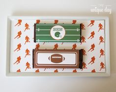 Printable Chocolate wrapper Football Birthday by theuniqueday