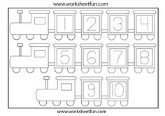 Number Tracing - on rockets (I know it's a train but on the web page it is rockets)