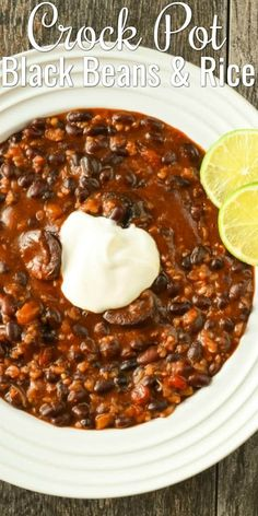 Crock Pot Black Beans and Rice with Sausage is a favorite comfort food recipe for dinner from Serena Bakes Simply from Scratch. and Drink crock pot families Crock Pot Black Beans and Rice with Sausage Beans In Crockpot, Sausage Crockpot, Sausage Recipes, Rice And Beans Crock Pot Recipe, Dried Black Beans, Black Beans And Rice, Baked Black Beans Recipe, Dried Beans, Crock Pot Slow Cooker