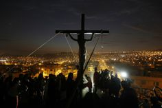 Lima, Peru An actor playing the role of Jesus Christ hangs from a cross during the re-enactment of the crucifixion of Jesus Christ during Holy Week at Mi Peru, a shanty town on the outskirts of Lima. Crucifixion Of Jesus, Jesus Christ, Lima Peru, Holy Week, Pictures Of The Week, Latin America, Lent, Easter, Actors