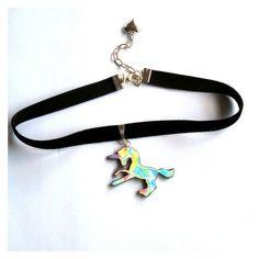 Holographic Unicorn Choker Hologram Choker 90s grunge jewelry rainbow ❤ liked on Polyvore featuring jewelry, necklaces, holographic jewelry, rainbow necklace, unicorn jewellery, holographic necklace and choker jewellery