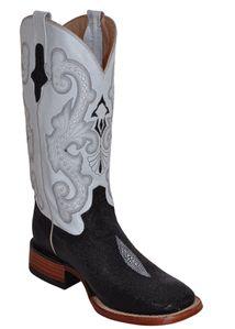 Stingray Print Square Toe Boots